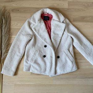 Sanctuary Anthropologie Sherpa Teddy Coat   Cream